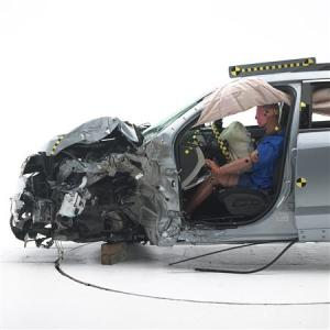 A 2014 Chevrolet Equinox is pictured after a crash…