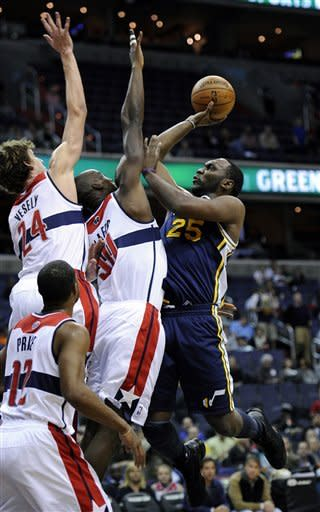 Jazz drop Wizards to 0-8 with 83-76 victory