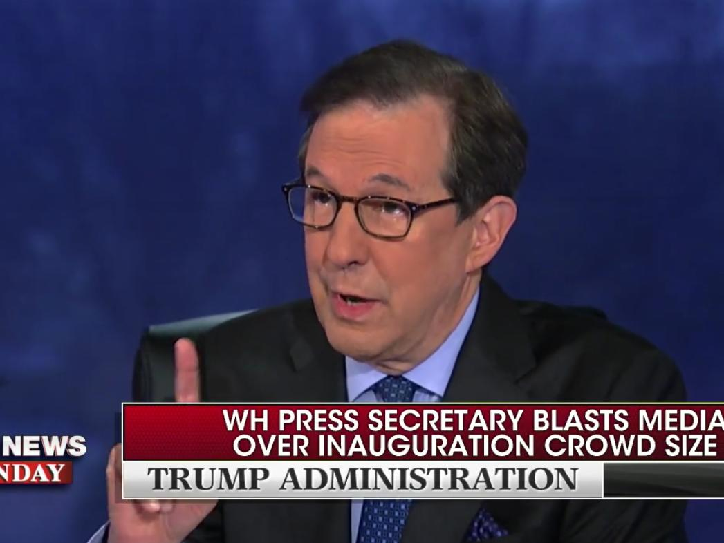 'Put up the picture again': Chris Wallace uses photos to confront Trump chief of staff over false crowd-size claims