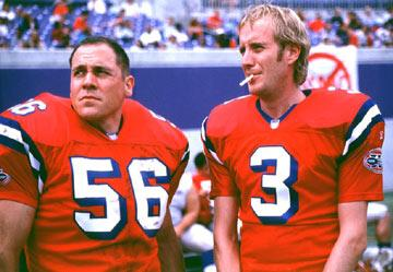 Jon Favreau and Rhys Ifans in Warner Brothers' The Replacements