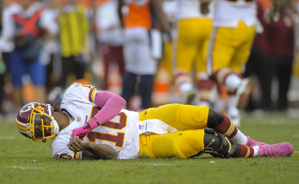 RG3's knee is 'fine' - Redskins passing game isn't