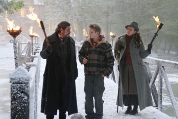 Ian McShane , Alexander Ludwig and Frances Conroy in Fox Walden's The Seeker: The Dark is Rising
