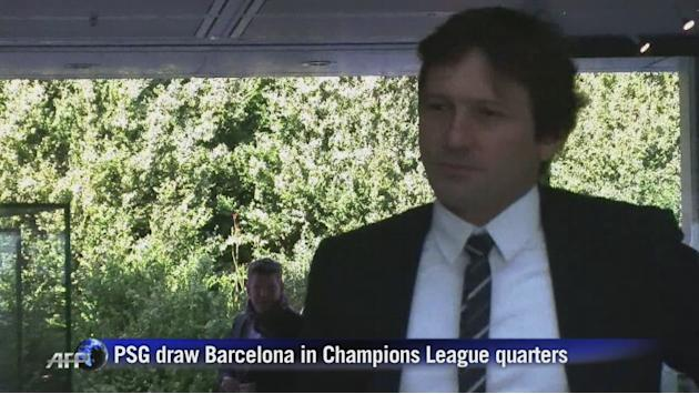 PSG draw Barcelona in Champions League