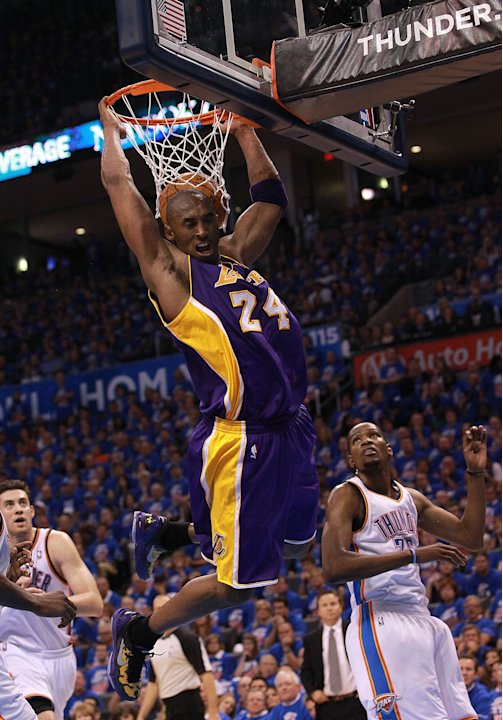 Kobe Bryant during the 2012 NBA playoffs