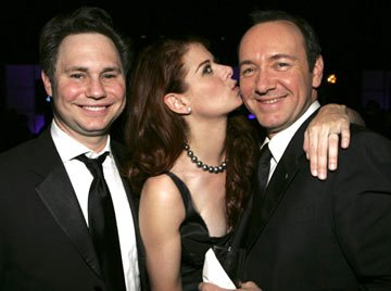 Jason Binn, Debra Messing and Kevin Spacey InStyle/Warner Bros. Golden Globes Party The Palm Court at the Beverly Hilton - Beverly Hills, CA - 1/16/05