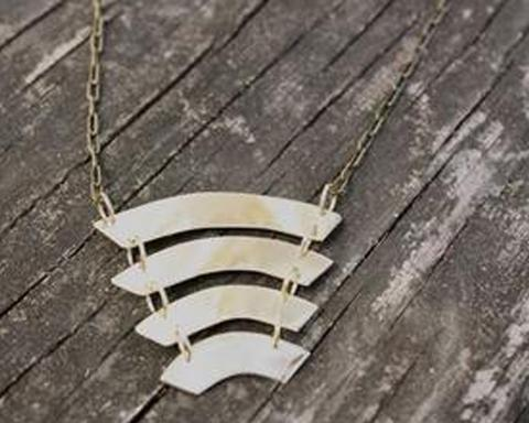 Rebekah Vinyard, Sound Wave Necklace, $45