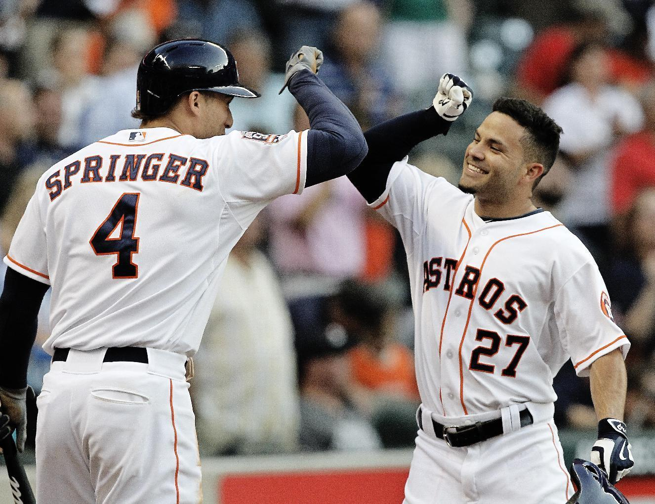 Astros win 9th in row, McHugh gets HR help to beat Mariners