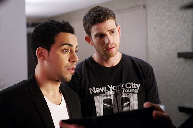 "Victor Rasuk and Bryan Greenberg in ""How To Make It In America."""