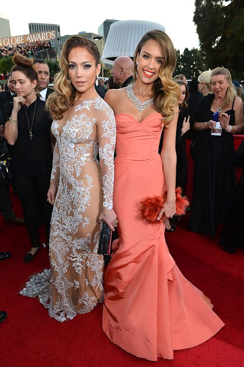 "NBC's ""70th Annual Golden Globe Awards"" - Red Carpet Arrivals: Jennifer Lopez and Jessica Alba"