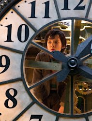 "In this image released by Paramount Pictures, Asa Butterfield portrays Hugo Cabret in a scene from ""Hugo."" (AP Photo/Paramount Pictures, Jaap Buitendijk)"