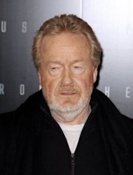 "English film director Sir Ridley Scott poses during a photocall for the premiere of ""Prometheus"" in Paris. Scott gave a sneak 3D preview of his new movie ""Prometheus"", the latest step in an elaborate promotional campaign marking the ""Alien"" director's return to sci-fi, three decades on"
