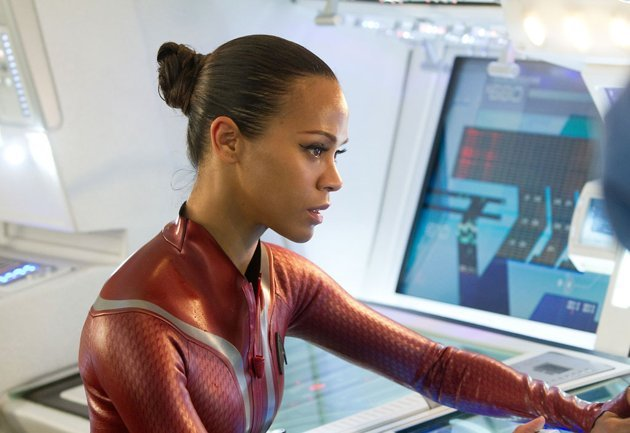 Zoe Saldana as Uhura in 'Star Trek Into Darkness'