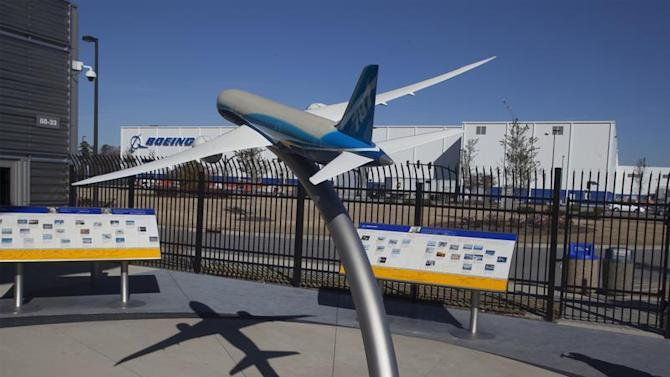 A model of the 787 Dreamliner is seen at the welcome center for South Carolina Boeing in North Charleston