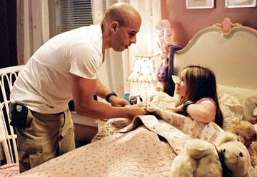 Vin Diesel and Morgan York in Walt Disney Pictures' The Pacifier
