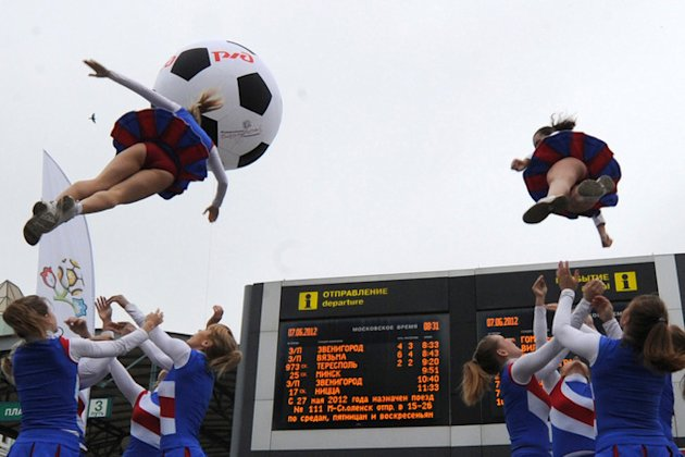 Russia's National Football Team Cheerleaders AFP/Getty Images