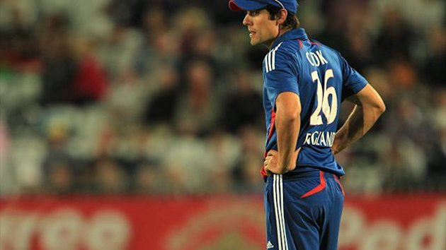 Alastair Cook's England side slipped to a six-wicket defeat against Delhi