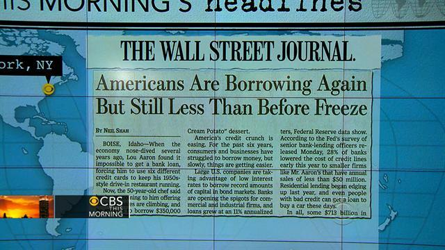 Headlines: America's credit crunch easing