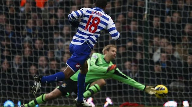 Loic Remy scores against West Ham on his QPR debut
