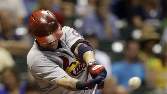 Carpenter's single helps Cards rally over Brewers