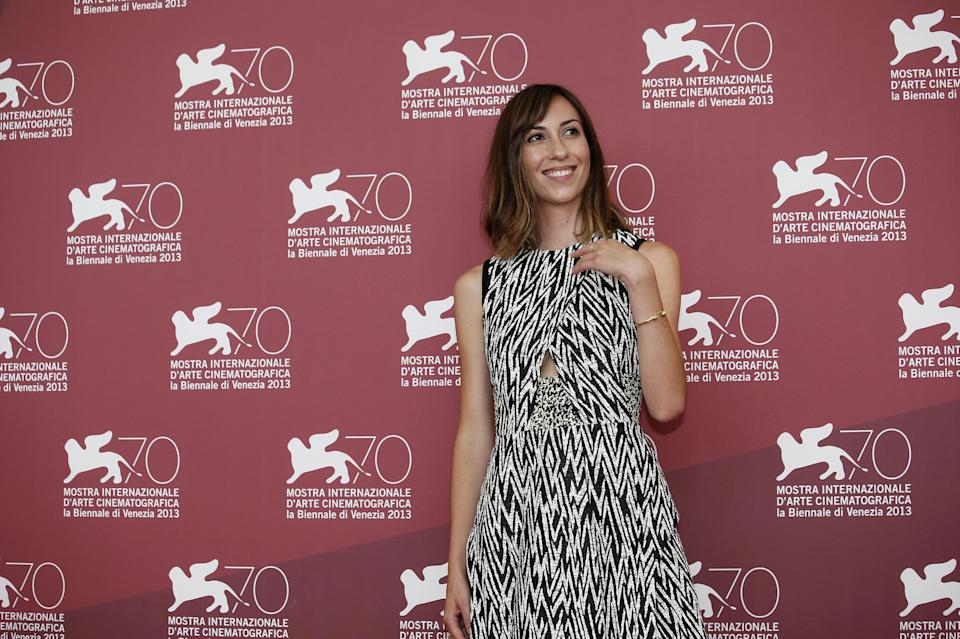 Director Gia Coppola poses for photographers during the photo call for the film Palo Alto at the 70th edition of the Venice Film Festival held from Aug. 28 through Sept. 7, in Venice, Italy, Sunday, Sept. 1, 2013. (AP Photo/David Azia)
