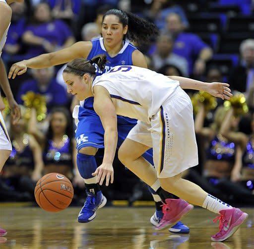 Kenney lifts LSU women over No. 8 Kentucky, 77-72