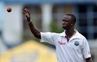 Bowler Kemar Roach of the West Indies, pictured in April 2012. England Lions crushed West Indies by 10 wickets on Sunday, dealing a further blow to the brittle confidence of the tourists ahead of the first Test which starts at Lord&#39;s on Thursday