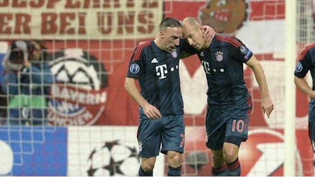 Champions League - Robben refuses to take penalty in Bayern win