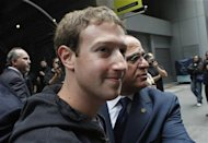 Facebook Inc. CEO Mark Zuckerberg departs New York City's Sheraton Hotel