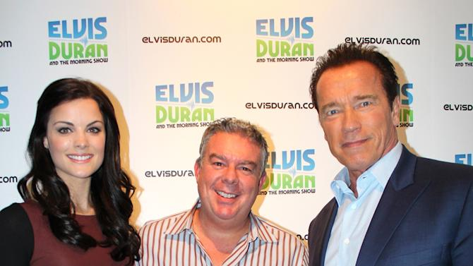 Arnold Schwarzenegger and Jaimie Alexander Visit Elvis Duran and the Morning Show