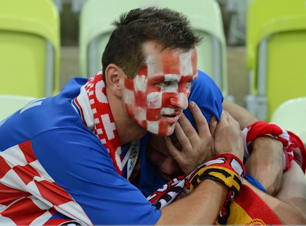 Fans Of Croatia's National Football Team  React At The End Of The Euro 2012 Football Championships AFP/Getty Images