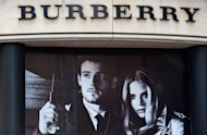 A Burberry shop is pictured in central London. Burberry shares tumbled by almost 21 percent Tuesday after the British firm issued a surprise profits warning which analysts blamed on China's economic slowdown