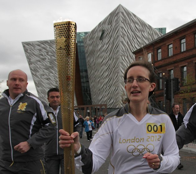 An Olympic Torch bearer Karen …