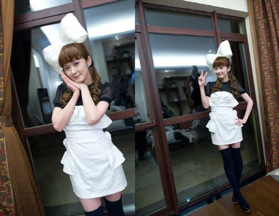 "Jang Nara in maid costume, ""Standing Doll"""