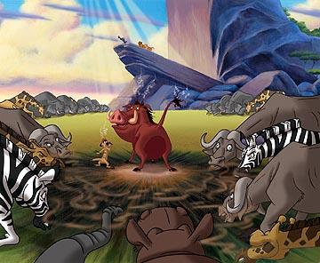 Pumbaa gets a little gassy in Disney's The Lion King 1 1/2