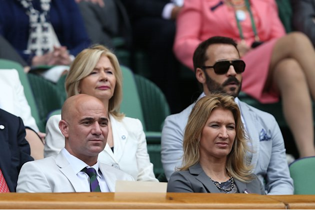 Agassi and Graf Wimbledon