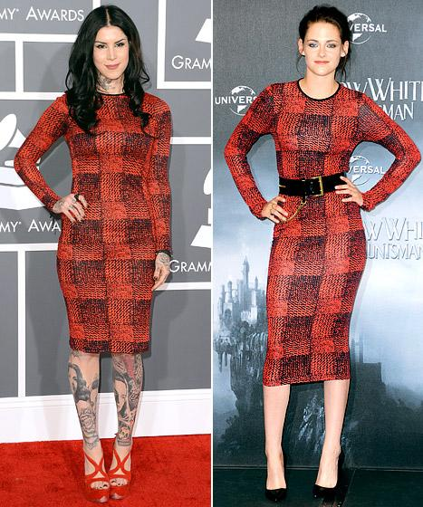 Who Wore It Best: Kat Von D or Kristen Stewart?