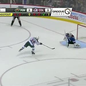Varlamov robs Pominville to win shootout