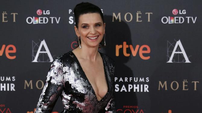 Actress Binoche poses on the red carpet before the Spanish Film Academy's Goya Awards ceremony in Madrid