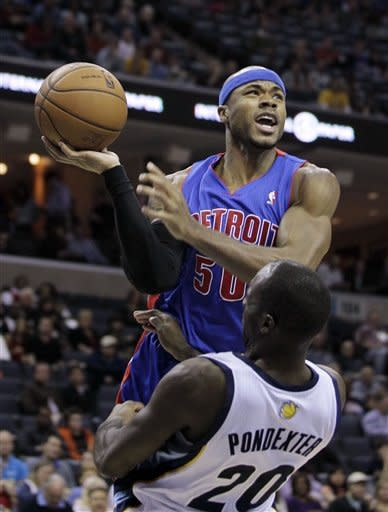 Gay scores 18 to lead Grizzlies past Pistons 90-78
