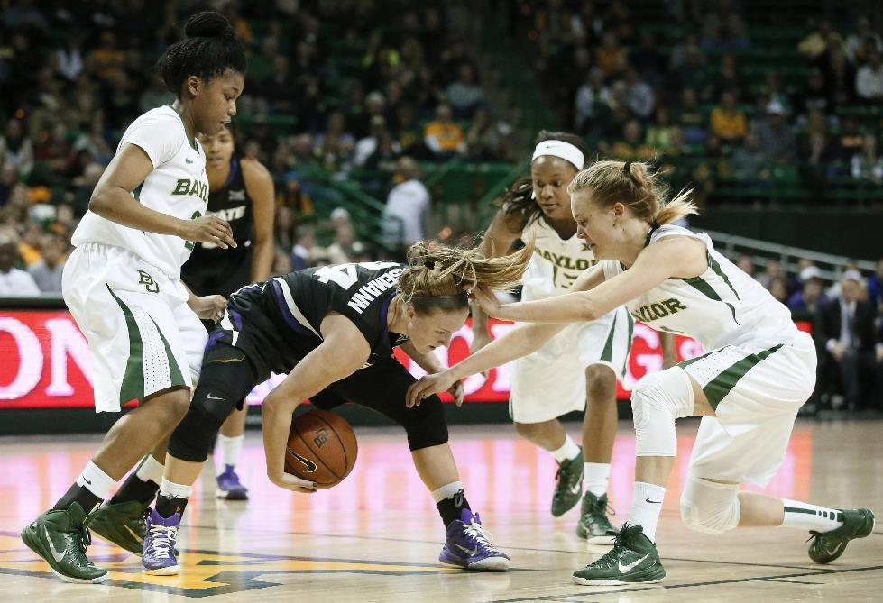 No. 3 Baylor women win 17th in row, 68-46 over Kansas State