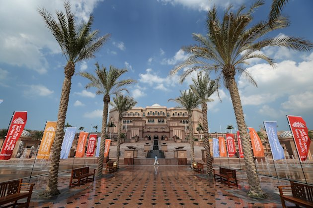 ABU DHABI, UNITED ARAB EMIRATES - OCTOBER 16:  A general view of the Emirates Palace Hotel on day five of the Abu Dhabi Film Festival 2012 at Emirates Palace on October 15, 2012 in Abu Dhabi, United Arab Emirates.  (Photo by Chris Jackson/Getty Images)
