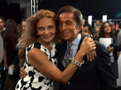 Designer pals show support at DVF fashion show