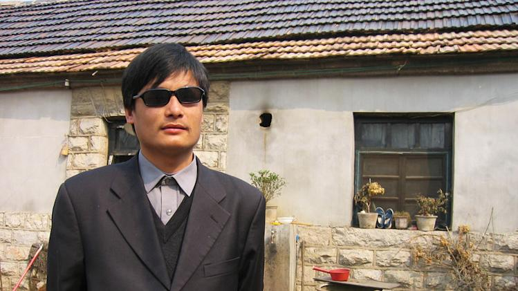This undated photo provided by the China Aid Association shows blind Chinese legal activist Chen Guangchen in Shandong province, China. Chen, a well-known dissident who angered authorities in rural China by exposing forced abortions, made a surprise escape from house arrest on April 22, 2012, into what activists say is the protection of U.S. diplomats in Beijing, posing a delicate diplomatic crisis for both governments. (AP Photo/www.ChinaAid.org)
