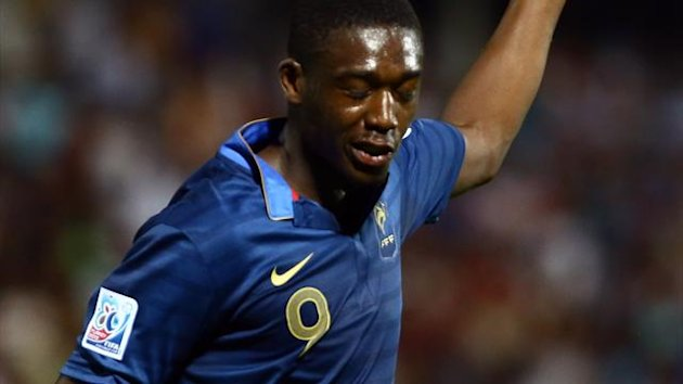 Yaya Sanogo of France celebrates after scoring a goal against Turkey during their round of 16 football match at the FIFA Under 20 World Cup at the Kamil Ocak stadium in Gaziantep on July 2, 2013. (AFP)