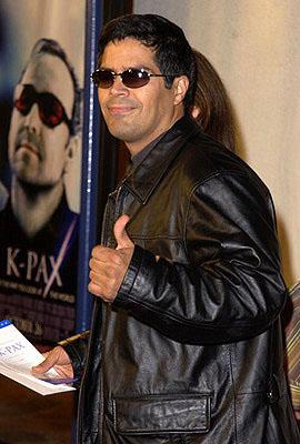They just don't come cooler than Atomic Train star Esai Morales at the Westwood premiere of K-Pax