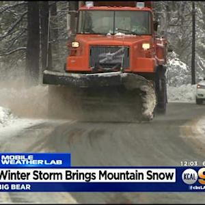 Storm Brings Several Inches Of Snow To Southern California Mountains