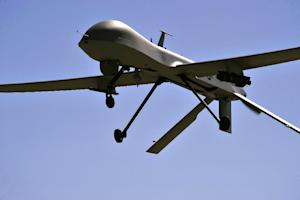A US Air Force file photo shows an MQ-1B Predator drone …