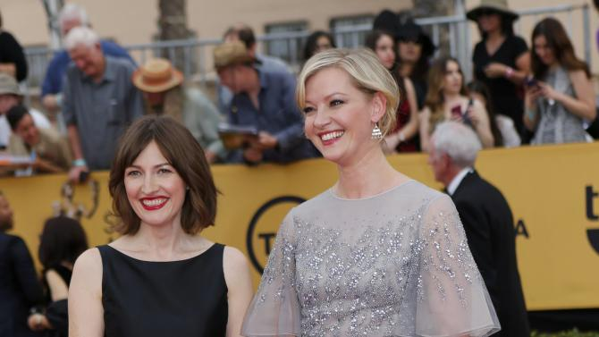 Actresses Macdonald and Mol arrive at the 21st annual Screen Actors Guild Awards in Los Angeles