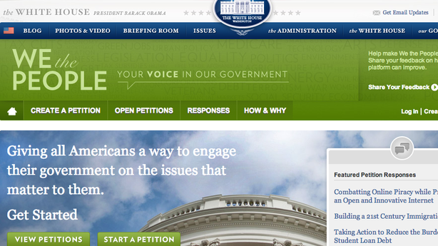 How Petitions Became the White House Comments Section
