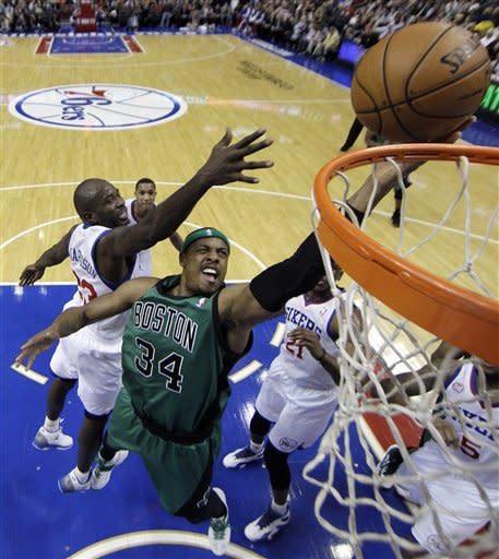 Turner hits winner in OT, 76ers top Celtics 95-94